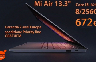 Discount Code - Xiaomi 13.3 Core Air Notebook i5-8250U 8 / 256 Gb to 672 € 2 guarantee years Europe and with FREE priority shipping!