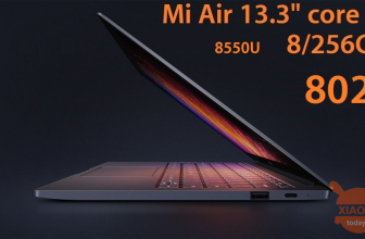 Rabattcode - Xiaomi Air 13.3 Notebookkern i7-8550U Version 8 / 256Gb zu 802 €