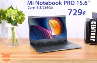 Offer - Xiaomi Mi Notebook PRO i5 8 / 256Gb to 729 € 2 warranty years Europe