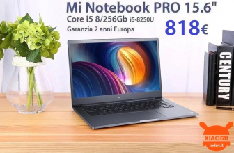Offer - Xiaomi Mi Notebook PRO 15.6 ″ i5-8250U 8 / 256Gb to 818 € warranty 2 years Europe
