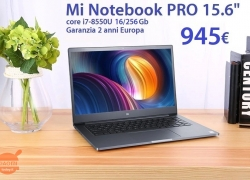 Discount Code - Xiaomi Mi Notebook Pro i7-8550U 16 / 256Gb to 945 € Shipping shipping Priority Line to 2 €