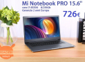 Discount Code - Xiaomi Mi Notebook Pro i7-8550U 8 / 256Gb to 726 € guarantee 2 years Europe Priority delivery INCLUDED