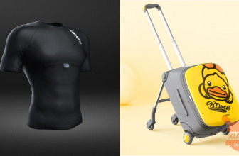 Xiaomi Zenph smart t-shirt and suitcase with child seat presented