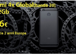 Discount Code - RedMi 4X Global Black 3 / 32Gb (banda20) to 116 € guarantee 2 years Europe shipping Italy Express Included
