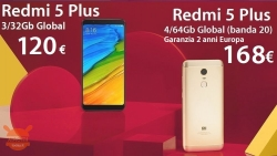 Discount Code - Xiaomi Redmi 5 Plus 3 / 32Gb to 120 € (China warranty) and 4 / 64Gb to 168 € with 2 years of warranty Europe and shipping to Italy Express Included!