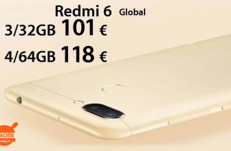 Discount Code - Xiaomi Redmi 6 Global 4 / 64Gb to 118 € and 3 / 32Gb to 101 €