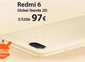 Discount Code - Xiaomi Redmi 6 Global 3 / 32Gb to 97 €