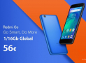 Discount Code - Xiaomi Redmi Go Global 1 / 16Gb at 56 €