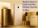 Discount Code - Redmi Notes 4 Global 4 / 64Gb to 136 € and 3 / 32Gb to 111 € Warranty 2 Years Europe