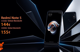 Discount Code - Xiaomi Redmi Notes 5 3 / 32Gb to 144 € and 4 / 64Gb to 155 €