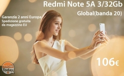 Offer - Xiaomi Redmi Note 5A 3 / 32 Gb (20 band) to 106 € 2 years warranty Europe shipped FREE from stock EU