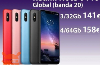Offer - Redmi Notes 6 Pro Global 4 / 64Gb to 158 € and 3 / 32Gb to 141 € 2 guarantee years Europe and Italy Express FREE