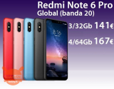할인 코드 - Redmi Notes 6 Pro 4 / 64Gb ~ 167 € 및 3 / 32Gb ~ 141 €