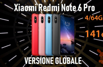 Code de réduction - Redmi Notes 6 Pro Global 4 / 64Gb sur 141 €