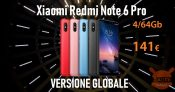 Kode Diskon - Catatan Redmi 6 Pro Global 4 / 64Gb at 141 €