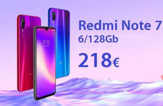 割引コード -  Xiaomi Redmi Notes 7 Pro 6 / 128Gb(218€)