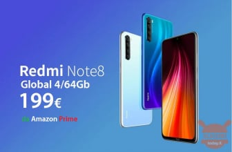 Código de desconto - Redmi Note 8 Global 4 / 64Gb para 174 € da China e 199 € da Amazon Prime