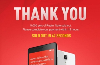 New record of Xiaomi! Sold 5.000 Redmi Notes in 42 Seconds