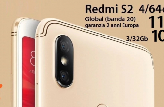 Offer - Xiaomi Redmi S2 Global (20 band) 3 / 32Gb to 108 € and 4 / 64Gb to 112 € 2 warranty years Europe and Italy Express Included!