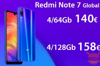 קוד הנחה - Redmi Notes 7 Global 4 / 128Gb Blue 158 € ו- 4 / 64Gb במחיר 140