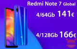 割引コード-Redmi Notes 7 Global 4 / 64Gb(141€)および4 / 128Gb(166€)