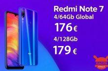 Discount Code - (xiaomi) Redmi Notes 7 Global 4 / 64Gb at 176 € and 4 / 128Gb at 179 €