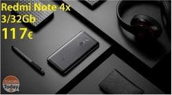 Offer - Redmi Notes 4x 3 / 32Gb Rom Global Black / Gold from 117 € and 122 € with fast shipping from stock EU