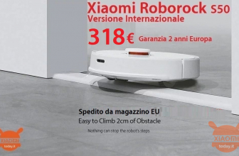 Discount Code - Roborock S50 Smart Robot washes floor at 318 € and S55 at 327 € from EU warehouse