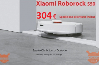 Discount Code - Roborock S50 Smart Robot washes floor at 304 € priority shipping Included