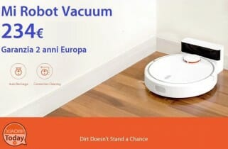 Discount Code - Mi Robot Vacuum only 234 € 2 warranty years Europe shipping Italy Express included