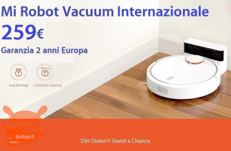 Offer - Mi Robot Vacuum International Version for only 259 € with 2 European years warranty and FREE priority shipping
