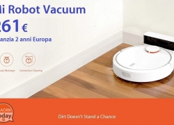 Offer - Mi Robot Vacuum only 261 € with 2 warranty years Europe Priority Line shipping to 0.6 €!