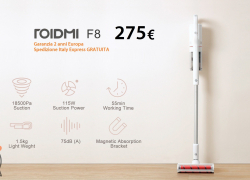 Offer - Xiaomi ROIDMI F8 Vacuum Cleaner to 275 € 2 warranty years Europe Shipping and Customs Included