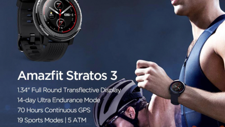 Discount Code - Xiaomi Amazfit Stratos 3 Global at 184 € from China and 200 € from Italy official Italian guarantee