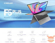 Il Notebook ruotabile a 360° Teclast F6 Plus in offerta a 296€