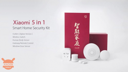 Rabattkod - Xiaomi Mijia 5 I 1 Smart Home Security Alarm System till 51 €