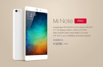 6 May 2015: Xiaomi Mi Note Pro finally available in pre-order and presentation of the Nubia Z9