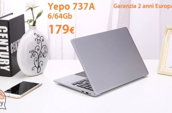 Discount Code - YEPO 737A Notebook 6 / 64Gb Gray to 179 € with 2 years of warranty Europe shipping Italy Express included