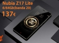 Offer - Nubia Z17 Lite 6 / 64 Gb Rom Global to 137 € Warranty 2 Years Europe Italy Express Included